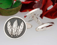 Native American Design Cufflinks - Negative Engraving