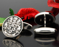 Allin or Allen Family Crest Cufflinks