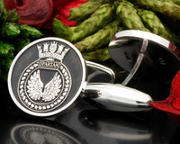 HMS Spartan Engraved Cufflinks