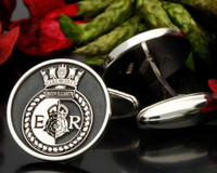 HMS Queen Elizabeth Engraved Cufflinks