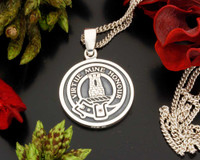 MacLean Scottish Clan Silver Pendant