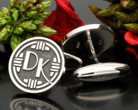 Art Deco Monogram DK Cufflinks Oxydised