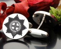 Coldstream Guards Engraved Cufflinks (graphic image) Engraved Style