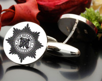 Irish Guards Cufflink Design ( graphic image ) oxidised recommended