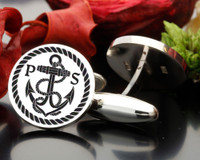 Anchor Monogram Cufflinks (graphic image) with our without initials