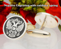 Russian Federation Cufflinks negative