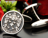 Cambridge Family Crest Cufflinks, available with Cambridge name or Moto