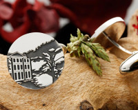 Customer's Own Design Silver Engraved Cufflinks