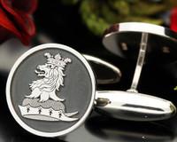 Royle Family Crest Cufflinks, oxidised