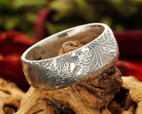 Leaf & Flower Design Bespoke Silver or Gold Ring LD001/DP