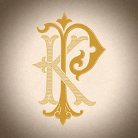 Victorian Monogram KP - hand drawn design, graphic design only - download