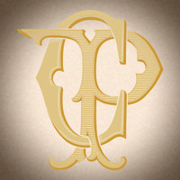 Victorian Monogram CP PC D4 - hand drawn design, graphic design only - download