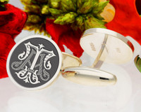 AT TA Victorian Monogram, borders available, oxidised finish.