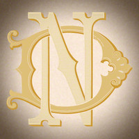 Victorian Monogram DN ND D1 - hand drawn design, graphic design only - download