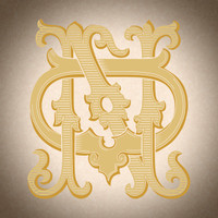 Victorian Monogram DN ND D2 - hand drawn design, graphic design only - download