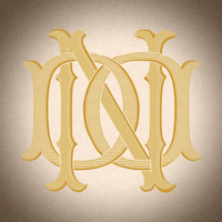 Victorian Monogram DN ND D3 - hand drawn design, graphic design only - download