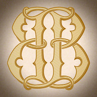 Victorian Monogram BB D1 - hand drawn design, graphic design only - download