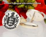 Griffith Family Crest Cufflinks Positive