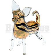 """ANIMAL HAND PIPE EXCITED CHIHUAHUA 4"""" FUMED"""