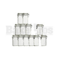 AIRTIGHT JAR CONTAINER W/ LID & LATCH GLASS AND CORK INTEGRATED LID Pack of 1