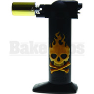 """NEWPORT ZERO LIGHTER TORCH (SKULLS) NBT035 GOLD Pack of 1 6"""""""