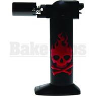 "NEWPORT ZERO LIGHTER TORCH (SKULLS) NBT034 RED Pack of 1 6"""