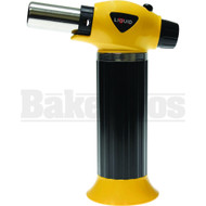 LIQUID BUTANE LIGHTER TORCH ADJUSTABLE FLAME HEAVY DUTY YELLOW Pack of 1 7""