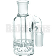 ASHCATCHER HONEYCOMB & SHOWERHEAD PERC 90* ANGLED JOINT CLEAR MALE 18MM