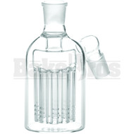 ASHCATCHER 11 ARM PERC 45* ANGLED JOINT CLEAR MALE 18MM