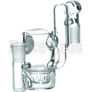MAVERICK ASHCATCHER CYLINDER SHOWERHEAD PERC RECYCLER L CONFIG 90* CLEAR MALE 18MM
