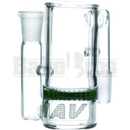 Maverick Ashcatcher Honeycomb 90* Connections Green Male 14mm