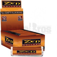 ZEN CIGARETTE ROLLING MACHINE ORANGE Pack of 12 70MM