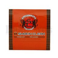 SMOKIN CLEAN TAPERED PIPE CLEANERS 24 PER PACK SOFT TAN Pack of 24