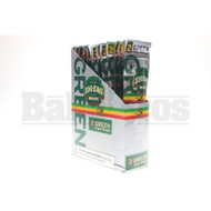 ZIG ZAG CIGAR WRAPS 2 PER PACK GREEN Pack of 25