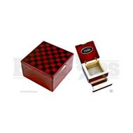 """DODO CHECKER DESIGN POLLEN BOX CHECKER 4"""" x 4"""" x 3"""""""