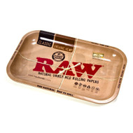 "RAW ROLLING TRAY METAL TAN Pack of 1 13"" x 11"" x 1"""