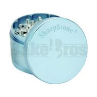 "SHARPSTONE HARD TOP GRINDER 4 PIECE 2.5"" CHROME BLUE Pack of 1"