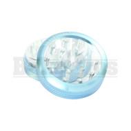 "SHARPSTONE CLEAR TOP GRINDER 2 PIECE 2.2"" BLUE Pack of 1"