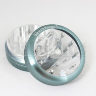 """SHARPSTONE CLEAR TOP GRINDER 2 PIECE 2.2"""" GRAY Pack of 1"""