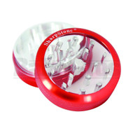 """SHARPSTONE CLEAR TOP GRINDER 2 PIECE 2.2"""" RED Pack of 1"""