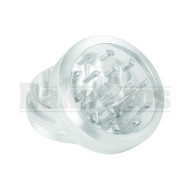 """SHARPSTONE CLEAR TOP GRINDER 2 PIECE 2.2"""" SILVER Pack of 1"""