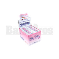 NIKO STOP PLASTIC CIGARETTE FILTER CLEAR Pack of 1 1""