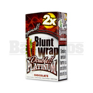 DOUBLE!! PLATINUM CIGAR WRAPS 2 PER PACK CHOCOLATE Pack of 25