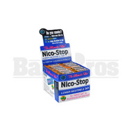 NICO-STOP PLASTIC CIGARETTE FILTER NATURAL Pack of 12 1""