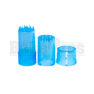 """MEDTAINER CONTAINER GRINDER 3 PIECE 3.5"""" TRANSLUCENT BLUE Pack of 1"""