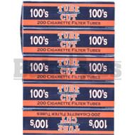 TUBE CUT PREMIUM FILTERS CIGARETTES 200 PER PACK BLACK ORANGE Pack of 5 100MM