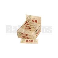 OCB ORGANIC HEMP UNBLEACHED PAPERS SLIM KING SIZE WITH TIPS 32 LEAVES UNFLAVORED Pack of 24