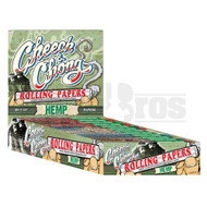 CHEECH & CHONG ROLLING PAPERS HEMP 1 1/4 UNFLAVORED Pack of 25