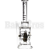 """SMOKIN MIRRORZ WP STRAIGHT TUBE MONSTER DROOLING 10"""" OLIVE GREEN MALE 14MM"""