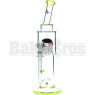 "PULSE GLASS WP SANDAL ART DIFFUSED & SHOWERHEAD PERC 12"" SLIME GREEN MALE 14MM"